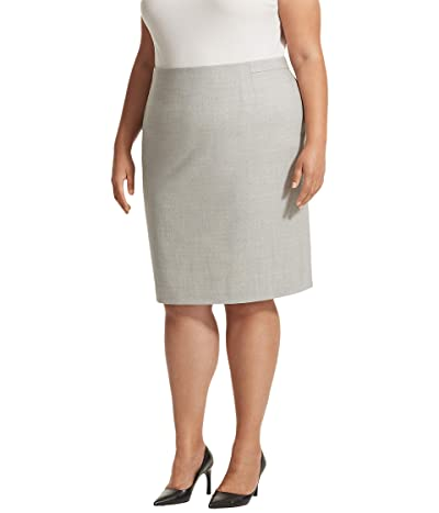 M.M. LaFleur Cobble Hill Skirt (Light Gray) Women