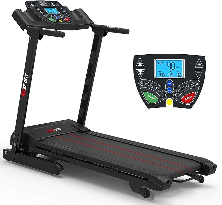 Tapis roulant elettrico professionale con display velocità 16km/h ideale per allenamento a casa B082NZX8JV