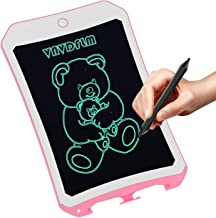 8.5 inch Writing &Drawing Board Doodle Board Toys for Kids,VNVDFLM WINL Birthday Gift for 4-5 Years Old Kids & Adults LCD Writing Tablet with Stylus Smart Paper for Drawing Writer(Pink-white)