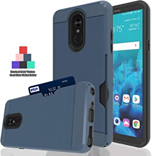 Ayoo:LG Stylo 4 Case,LG Q Stylus Case,LG Stylo 4 Plus Case,LG Stylus 4 Case, LG Stylo 4 / LG Q Stylus Phone Case, [Shockproof] Metal Brushed Texture [1 Card Holder] Case for LG Stylo 4-KC Metal Slate