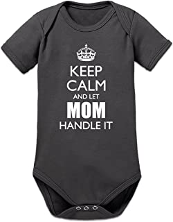 Shirtcity Keep Calm and Let Mom Handle it Baby Strampler by