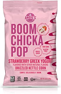 Angie's Strawberry Greek Yogurt Drizzled Kettle Corn Popcorn, 4.5 oz.