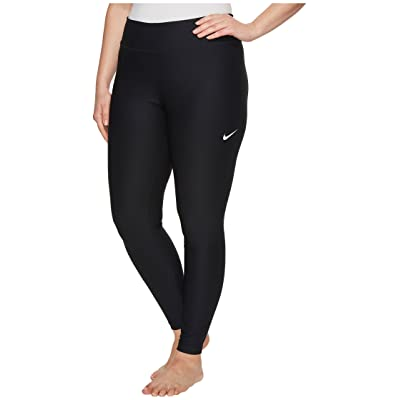 Nike Power Training Tight (Size 1X-3X) (Black/White) Women