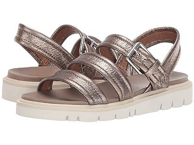Frye Mila Strappy Sandal (Golden Silver) Women