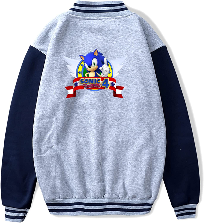 Sonic Teen Boys Fleece Hipster Sport Jacket Max 85% OFF Baseball Coa In a popularity Uniform