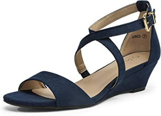 Women's Ankle Strap Low Wedge Sandals