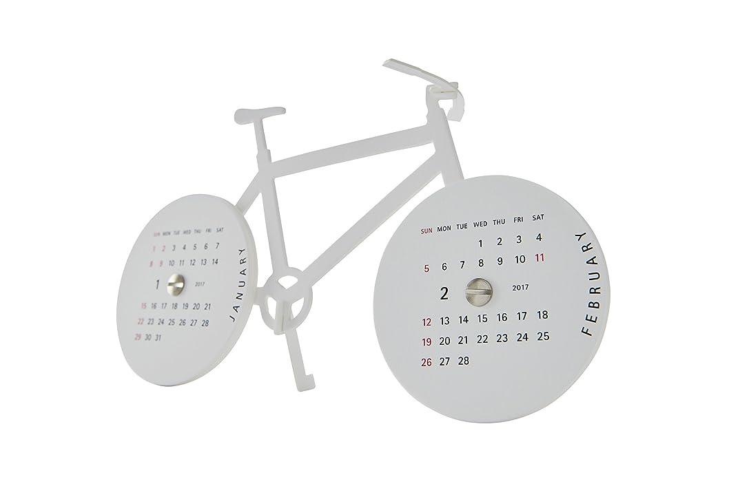 額すごい和らげるグッドモーニング カレンダー 2017 卓上 バイク