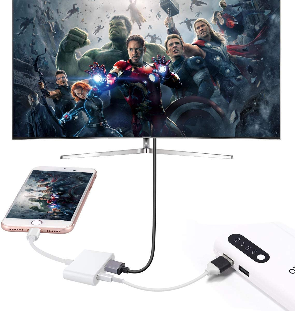 Lightning to HDMI Adapter, Wahbite Digital Audio AV dongle, 1080P Video AV Converter Cable, Wahyoo HDMI Sync Screen Connector for iPhone 12 11 XR XS Max X 8 7 6 Plus to HD TV Projector Monitor