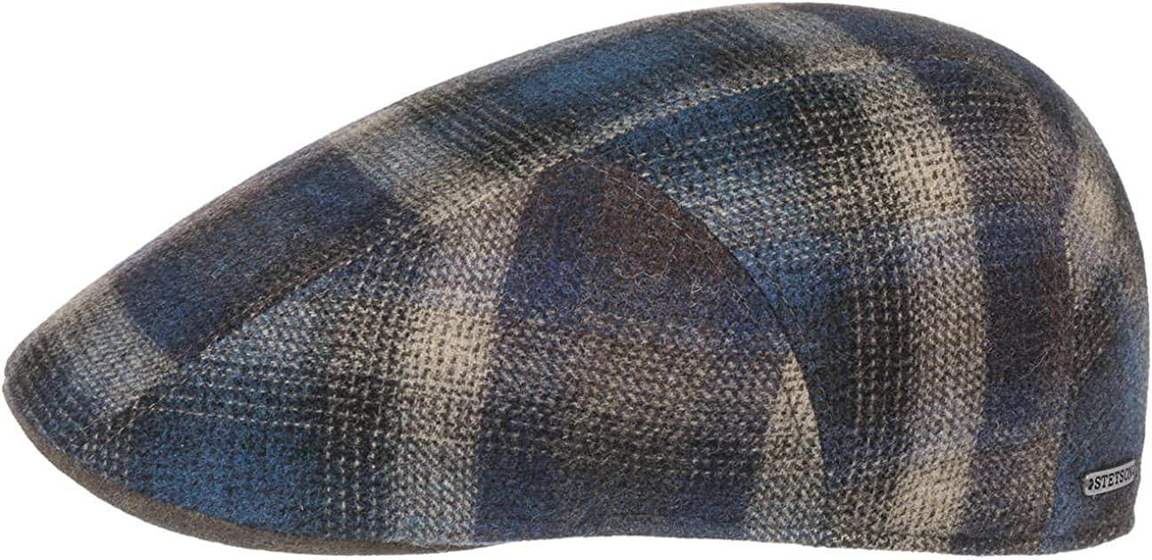 Stetson Camanto Virgin Wool Check Flat Cap The Men in Made Great interest EU - New product