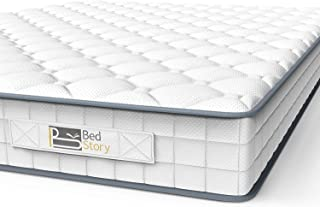 BedStory Madrass, enkel madrass 90 x 190 x 14 cm sovande fjädrad madrass medium fast bonnell fjädermadrass med andningsbar...