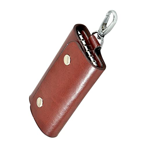 Instabuyz Leather Pouch Keychain - Dark Brown