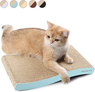 AMZNOVA Cat Scratcher Ramp, Inclined Corrugated Cardboard Kitty Scratching Pad Lounge with Bottom, Catnip Included