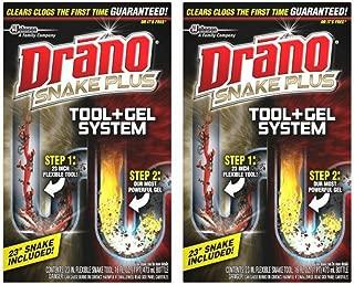 Drano Snake Plus Tool + Gel System - 2 Packs