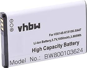 vhbw Li-Ion batería 1050mAh (3.7V) para teléfono Fijo inalámbrico Siemens Gigaset SL910, SL910A, SL910H sustituye V30145-K1310K-X447