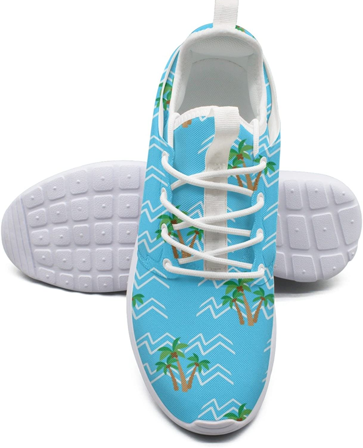 ERSER Tropical Coconut Palm Trees Womens Lightweight Running shoes