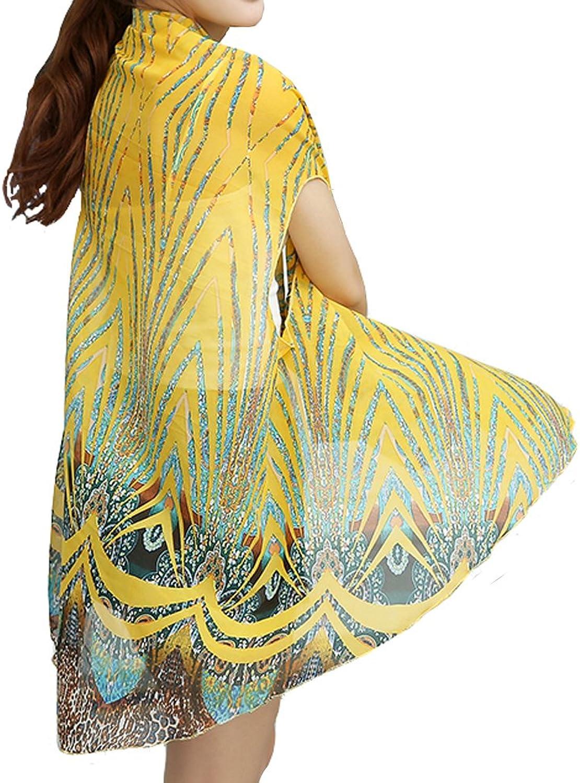 Ysun Women's CONgreenIBLE Shawl,Travel Skirt,Sun Scarf  Sun Predective,Travel Wear,Shawl Wrap,Beach Cover