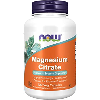 NOW Supplements, Magnesium Citrate, Enzyme Function, Nervous System Support, 120 Veg Capsules
