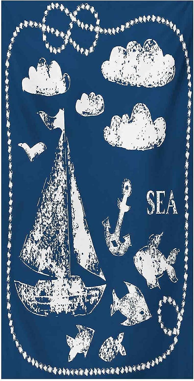 Static Navy Blue Window Film Sea Print Eleme Themed Challenge the lowest unisex price Hand Grunge