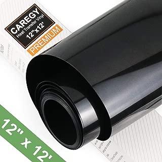 CAREGY Heat Transfer Vinyl HTV Rolls for T Shirts 12in.x12ft.(Black)