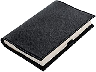 PVCレザー ブックカバー 文庫本サイズ 4色 黒