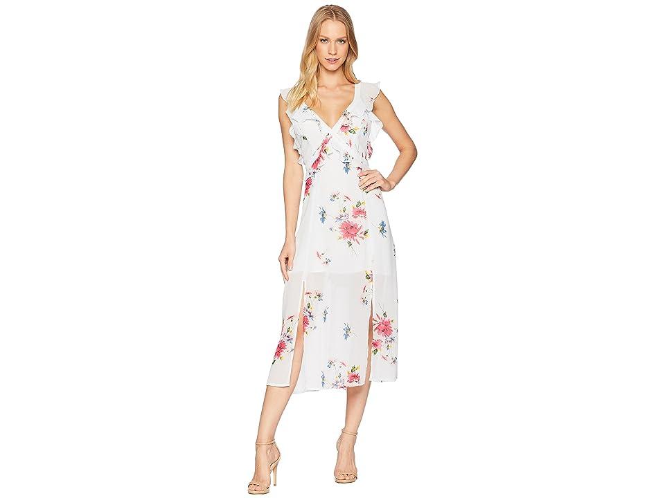 ASTR the Label Milani Dress (Ice Blue Multi Floral) Women
