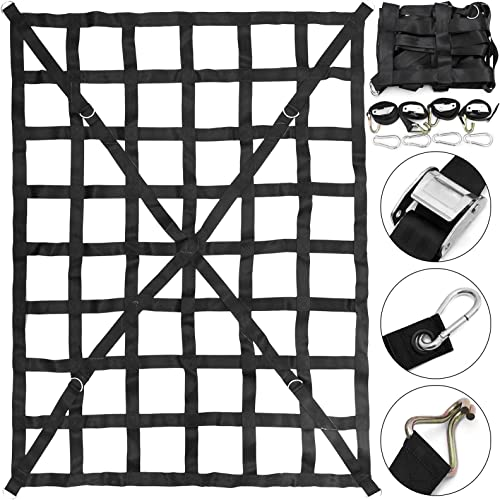 """wholesale Mophorn 50"""" x 66"""" Cargo Net with Cam Buckles & S-Hooks, Cross Strap popular Truck Bed Cargo Net 4.2' x 5.5', Heavy Duty Cargo Sets for discount Pickup Capacity 1100LBS for Pickup Trucks online"""