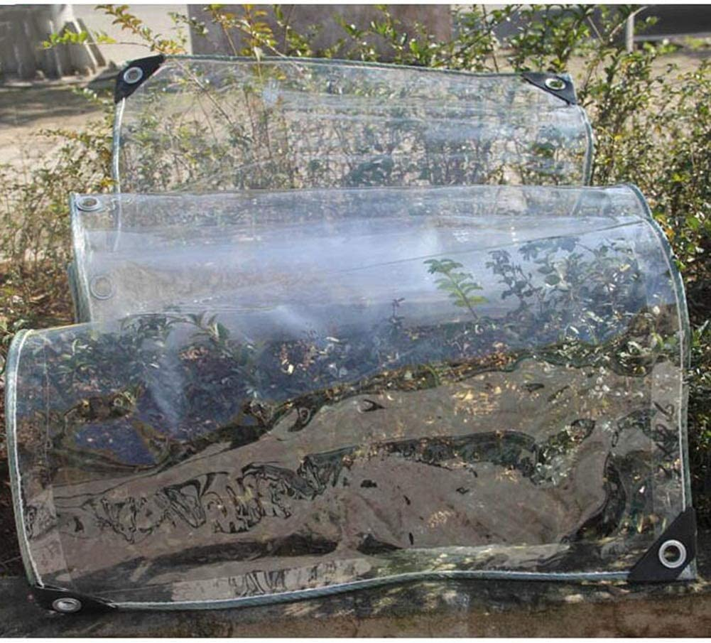 JIANFEI Lona Impermeable A Prueba De Lluvia Impermeable Al Aire Libre Jardín Mesa Silla Patio Cubierta De Muebles, Tamaño 47 (Color : Clear, Size : 1.4x2.9m)