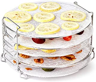 AIEVE Air Fryer Dehydrator Rack with Silicone Dehydrator Sheets, Stainless Steel Dehydrator Stand Air Fryer Rack Compatibl...