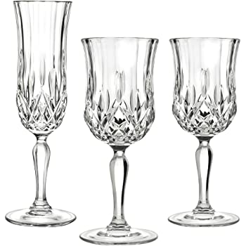 Flute Champagne /Bicchieri da Vino Colore Grappolo UVA Cristallo di Boemia/ Cristallo di Boemia taill/é/ /Taglia