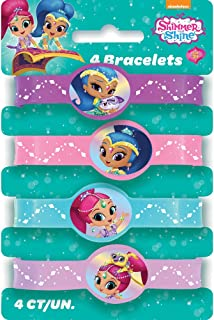 Unique Shimmer and Shine Silicone Wristband Party Favors, 4ct