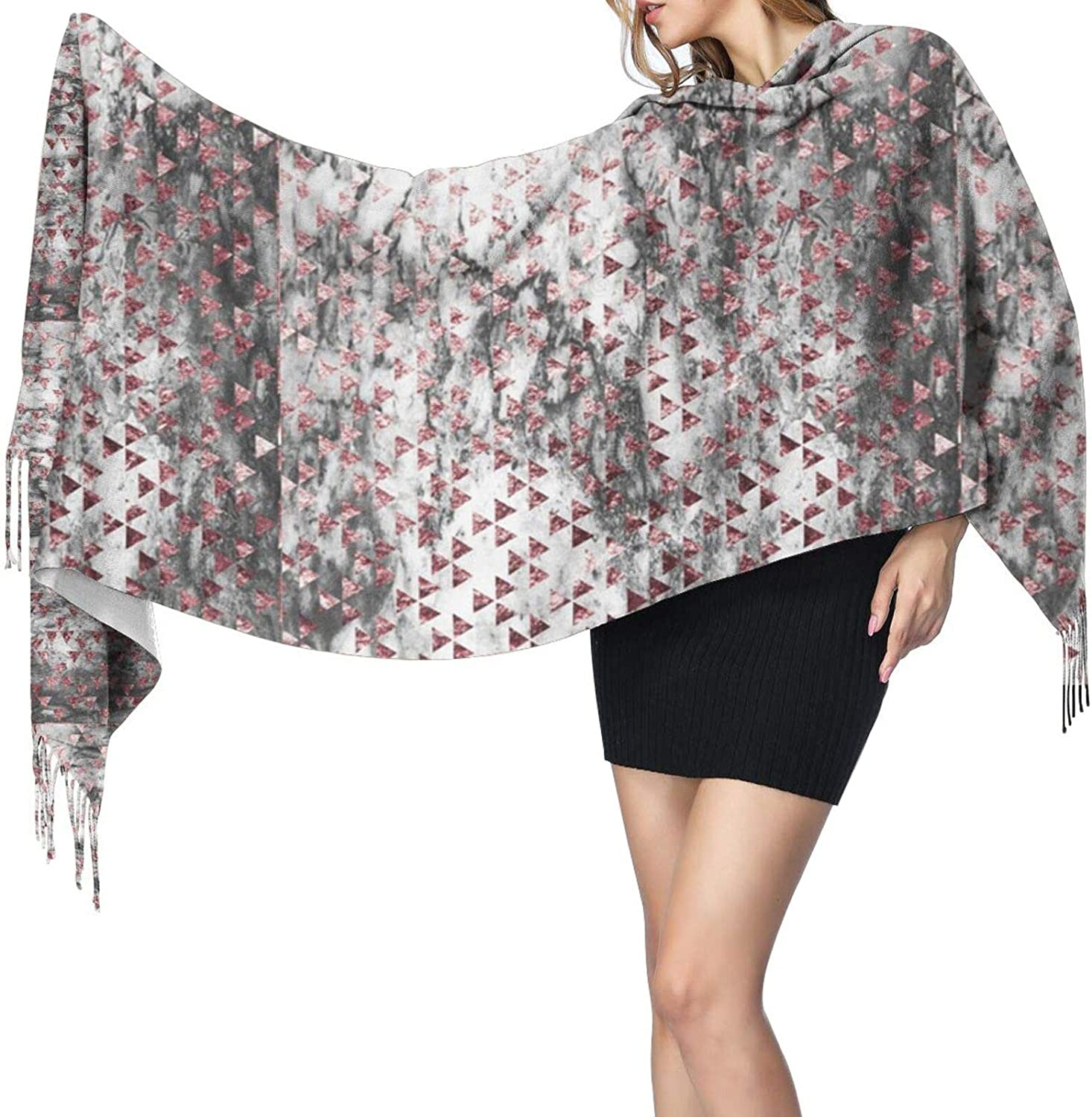 Triangle Pattern Cashmere Feel Scarf Lightweight Soft Scarfs For Boys Girls Creative Warm Cold Weather Blanket Scarf