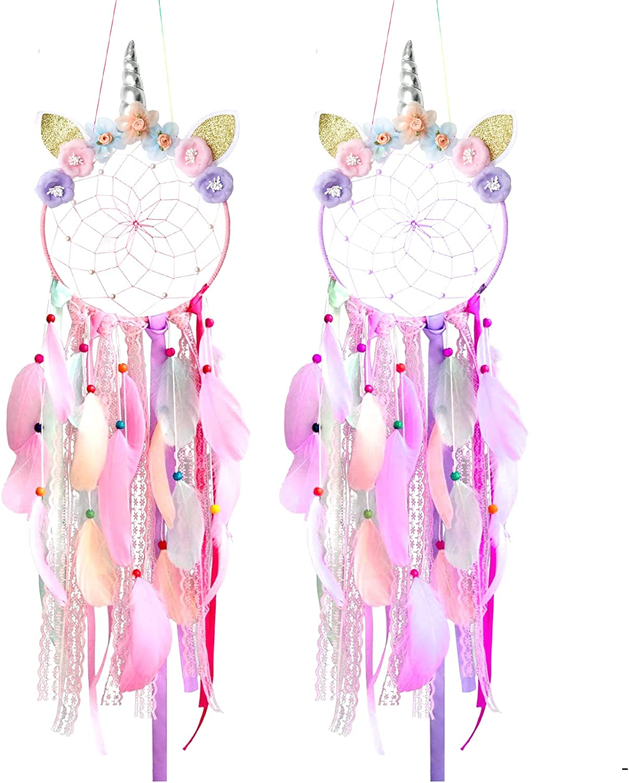 Unicorn Daily bargain sale Dream Catcher Special price Feather Handmade Dreamcatchers Dre Flowers