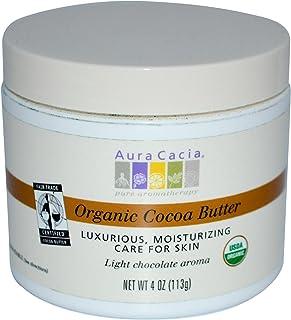 Aura Cacia Natural Cocoa Butter, 4 Ounce (113 g)