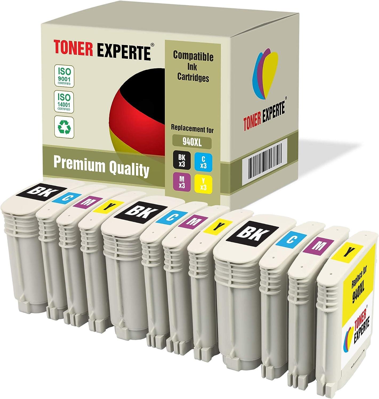12 Xl Toner Experte Druckerpatronen Kompatibel Für Hp 940xl 940 Xl Officejet Pro 8000 8000 Wireless 8500 8500 Wireless 8500a 8500a Plus 3 Schwarz 3 Cyan 3 Magenta 3 Gelb Bürobedarf Schreibwaren
