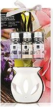 COM-FOUR® 4-czesciowy zestaw upominkowy zapachowy z podgrzewaczem - ceramiczna lampa zapachowa - zestaw zapachowy zapewnia...