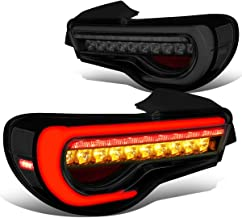 Smoked Red Housing Full LED 3D Tube Bar+Sequential Turn Signal Tail Light for 13-18 Scion FRS/86/Subaru BRZ