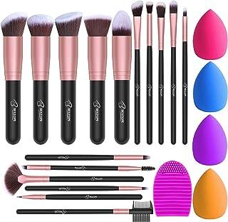 BESTOPE Makeup Brushes 16PCs Makeup Brushes Set with 4PCs Makeup Sponge and 1 Brush Cleaner...