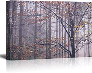 wall26 Canvas Wall Art - Beautiful Trees with Yellow Leaves in Autumn - Giclee Print Gallery Wrap Modern Home Decor Ready to Hang - 16x24 inches