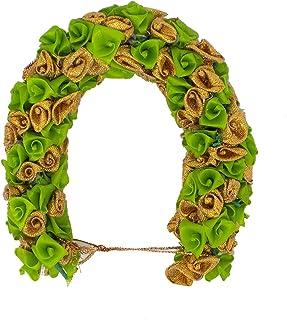 Confidence Artificial Flower Gajra For Hair Bun For Indian Wedding 20 Gram Pack Of 1 (Light Green)