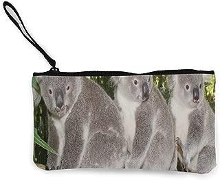 Coin Purse Huggable Australia Bears Koalas Animals Womens Zip Canvas Wallet ChangePersonalized Holder