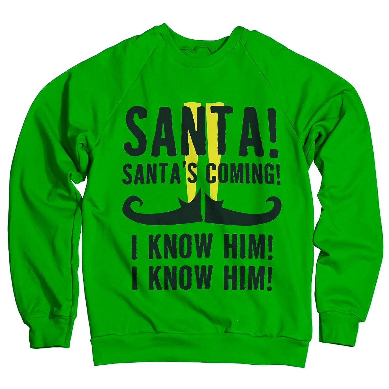 Officially Licensed Elf - Santa's Coming Sweatshirt (Green)