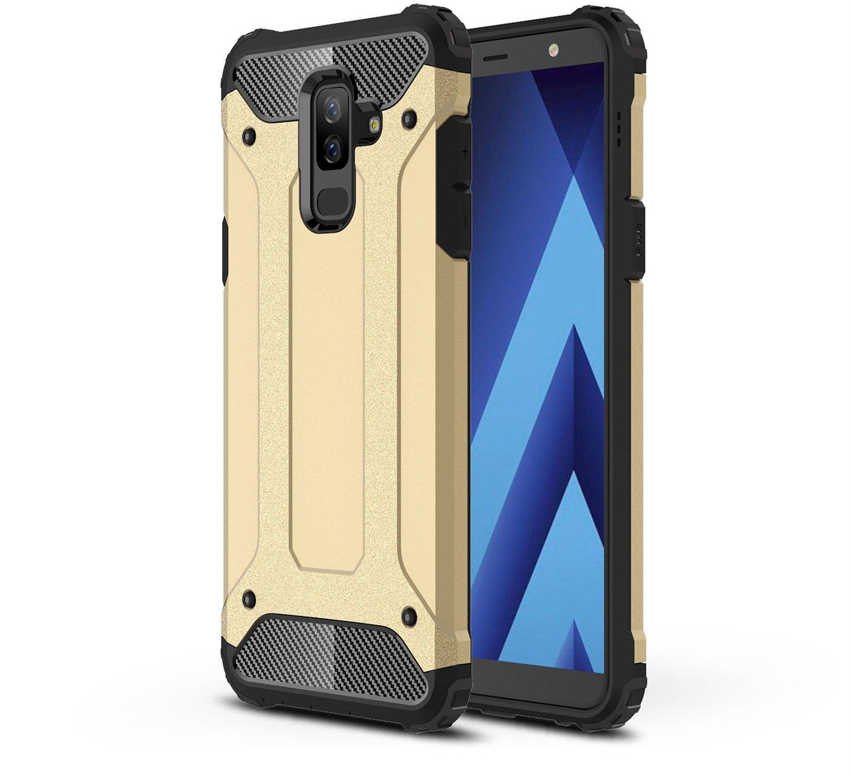 MIFanX Funda Samsung Galaxy J8 2018,Desmontable PC + Tup Doble Estuche A Prueba De Golpes para Samsung Galaxy J8 2018(Golden): Amazon.es: Electrónica