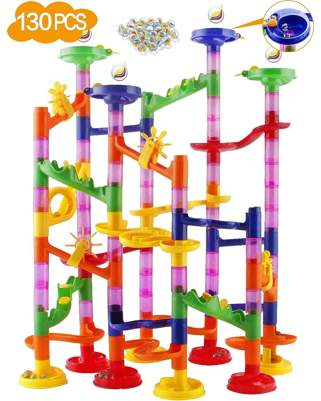 WUKADA ビーズコースター 知育玩具 スロープ ルーピング セット 子供 組み立て DIY 立体 パズル 積み木 おもちゃ