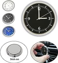 EEEKit Universal Pocket Mini Luminous Quartz Analog Watch Stick-On Clock for Car Boat Bike Home (Black)
