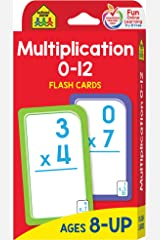 School Zone - Multiplication 0-12 Flash Cards - Ages 8+, 3rd Grade, 4th Grade, Elementary Math, Multiplication Facts, Common Core, and More Cards