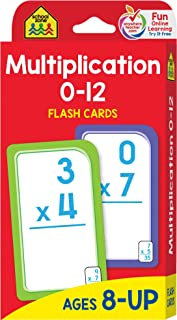 School Zone – Multiplication 0-12 Flash Cards – Ages 8+, 3rd Grade, 4th..