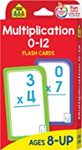 School Zone - Multiplication 0-12 Flash Cards - Ages 8+, 3rd Grade, 4th Grade, Elementary Math, Multiplication Facts, Comm...