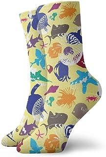 N / A, Equipo de calcetines brillantes de peces subacuáticos para hombres, mujeres, niños, trekking, rendimiento al aire libre, 30 cm / 11,8 pulgadas