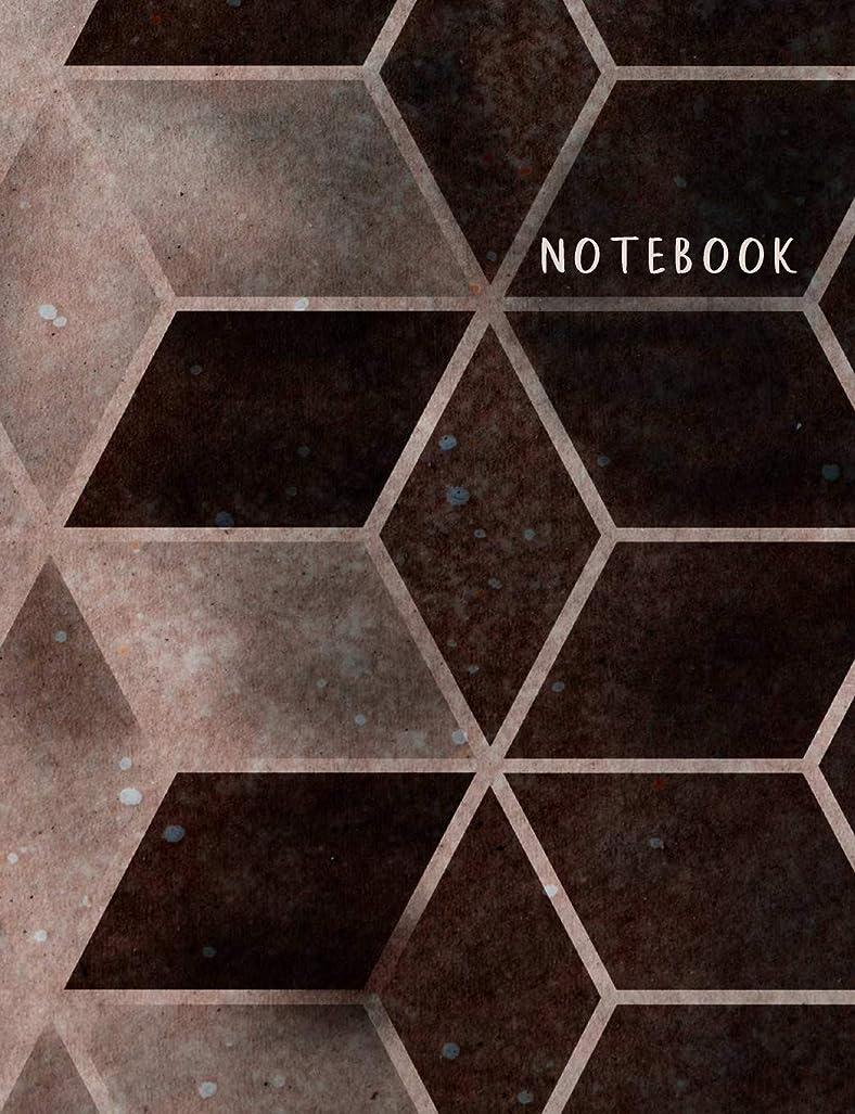 """政府フィット幸運Notebook: Composition Notebook. College ruled. 120 Pages. Perfect for school notes, Ideal as a journal or a diary. 9.69"""" x 7.44"""". Great gift idea. (Hexagons, brown bronze pattern. Soft matte cover)."""
