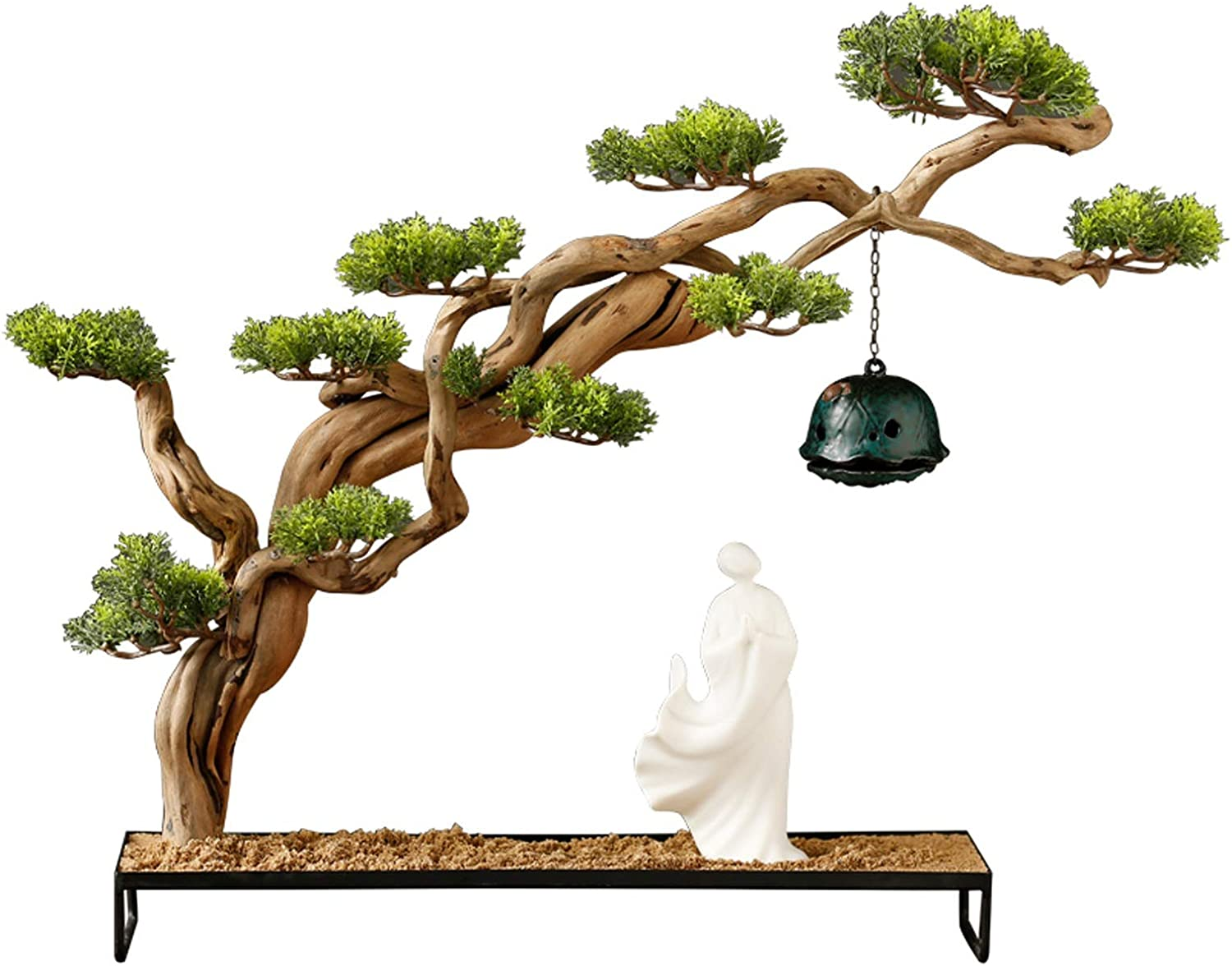 NYKK Artificial Plants Our shop most popular Chinese Zen Faux Attention brand Bonsai Tree Ho Ornaments
